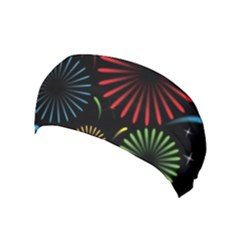 Fireworks With Star Vector Yoga Headband