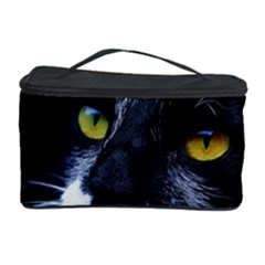 Face Black Cat Cosmetic Storage Case by BangZart