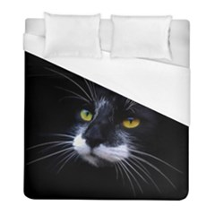 Face Black Cat Duvet Cover (full/ Double Size)