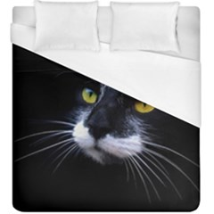 Face Black Cat Duvet Cover (king Size)