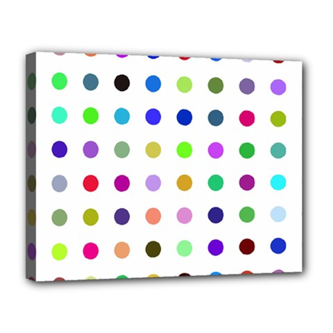 Circle Pattern Canvas 14  X 11  by BangZart