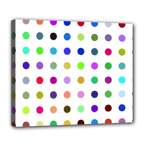 Circle Pattern Deluxe Canvas 24  X 20   by BangZart