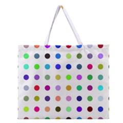 Circle Pattern Zipper Large Tote Bag by BangZart