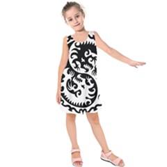 Ying Yang Tattoo Kids  Sleeveless Dress