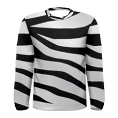 White Tiger Skin Men s Long Sleeve Tee