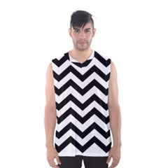 Black And White Chevron Men s Basketball Tank Top