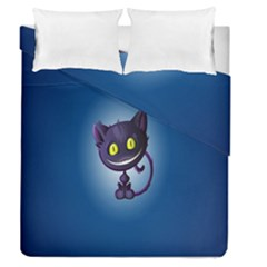 Funny Cute Cat Duvet Cover Double Side (queen Size) by BangZart