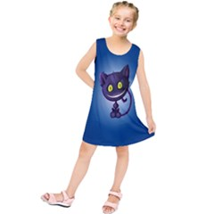 Funny Cute Cat Kids  Tunic Dress
