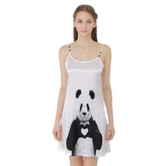 Panda Love Heart Satin Night Slip