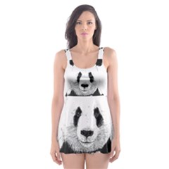 Panda Love Heart Skater Dress Swimsuit