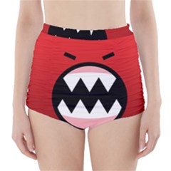 Funny Angry High Waisted Bikini Bottoms
