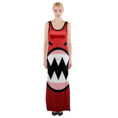 Funny Angry Maxi Thigh Split Dress