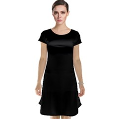 Black Cap Sleeve Nightdress