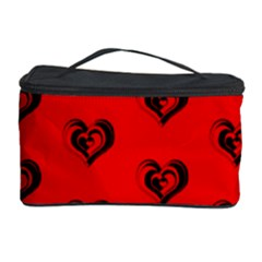 Lovely Hearts 17b Cosmetic Storage Case by MoreColorsinLife