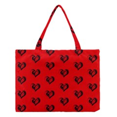 Lovely Hearts 17b Medium Tote Bag by MoreColorsinLife