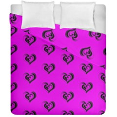 Lovely Hearts 17c Duvet Cover Double Side (california King Size) by MoreColorsinLife