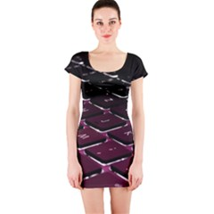 Computer Keyboard Short Sleeve Bodycon Dress