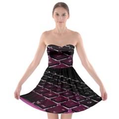 Computer Keyboard Strapless Bra Top Dress