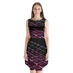 Computer Keyboard Sleeveless Chiffon Dress