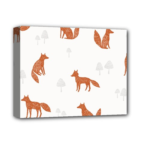 Fox Animal Wild Pattern Deluxe Canvas 14  X 11