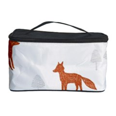 Fox Animal Wild Pattern Cosmetic Storage Case