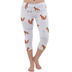 Fox Animal Wild Pattern Capri Yoga Leggings