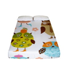 Cute Owls Pattern Fitted Sheet (full/ Double Size)