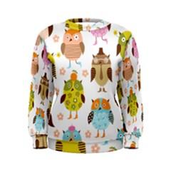 Cute Owls Pattern Women s Sweatshirt