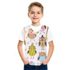 Cute Owls Pattern Kids  Sportswear by BangZart