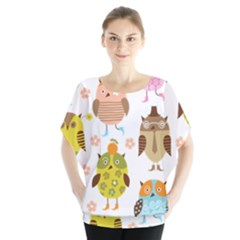 Cute Owls Pattern Blouse