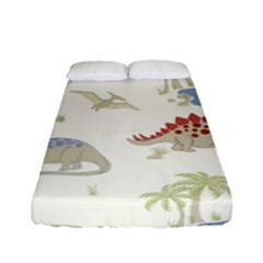 Dinosaur Art Pattern Fitted Sheet (full/ Double Size) by BangZart