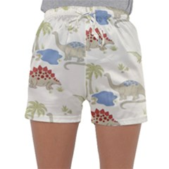 Dinosaur Art Pattern Sleepwear Shorts