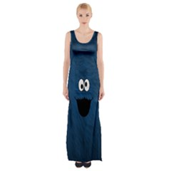 Funny Face Maxi Thigh Split Dress
