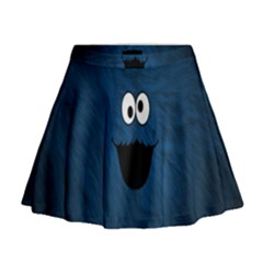 Funny Face Mini Flare Skirt