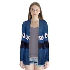 Funny Face Drape Collar Cardigan by BangZart