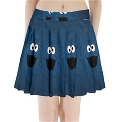 Funny Face Pleated Mini Skirt