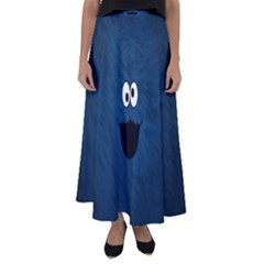 Funny Face Flared Maxi Skirt