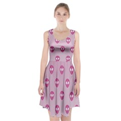Alien Pattern Pink Racerback Midi Dress