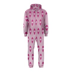Alien Pattern Pink Hooded Jumpsuit (kids)