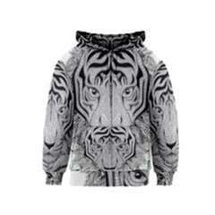 Tiger Head Kids  Zipper Hoodie