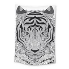 Tiger Head Small Tapestry by BangZart