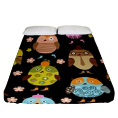 Cute Owls Pattern Fitted Sheet (california King Size)