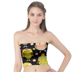 Cute Owls Pattern Tube Top