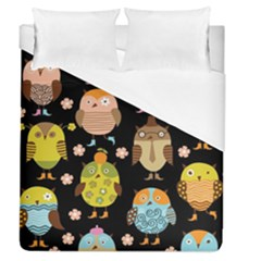 Cute Owls Pattern Duvet Cover (queen Size) by BangZart