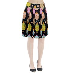 Cute Owls Pattern Pleated Skirt