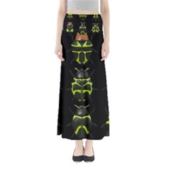 Beetles Insects Bugs Full Length Maxi Skirt