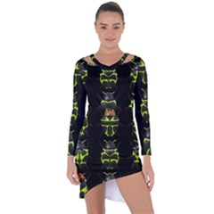Beetles Insects Bugs Asymmetric Cut Out Shift Dress
