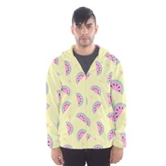 Watermelon Wallpapers  Creative Illustration And Patterns Hooded Wind Breaker (men)