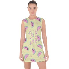 Watermelon Wallpapers  Creative Illustration And Patterns Lace Up Front Bodycon Dress