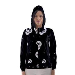 Skull Pattern Hooded Wind Breaker (women)